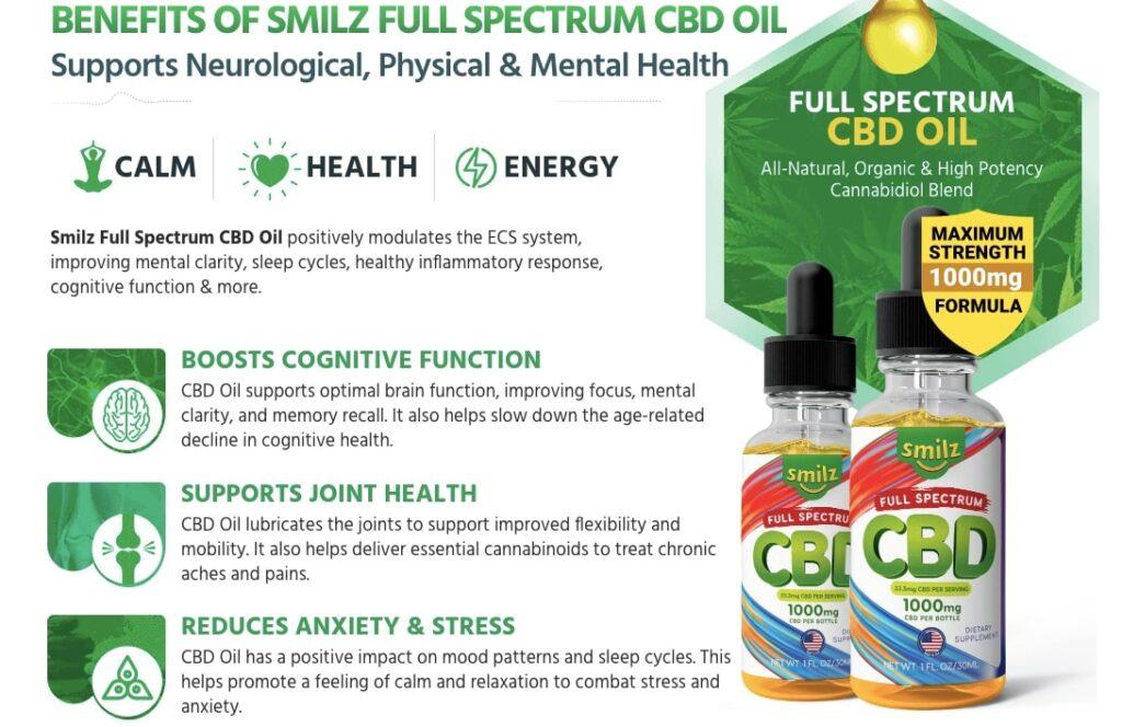 Benefits of Smilz CBD Oil