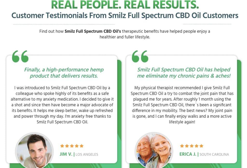 Real Reviews about Smilz CBD Oil