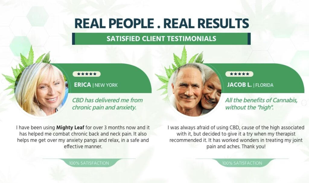 Real Reviews of mighty leaf cbd oil