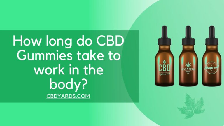 How long do CBD Gummies take to work in the body