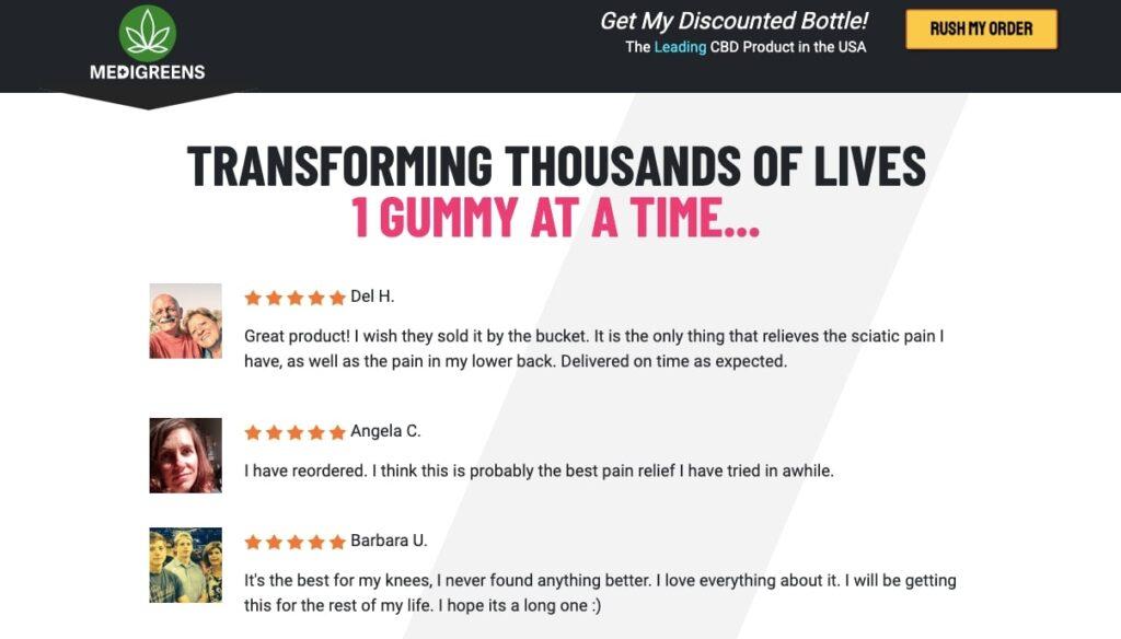 medigreens cbd gummies real reviews