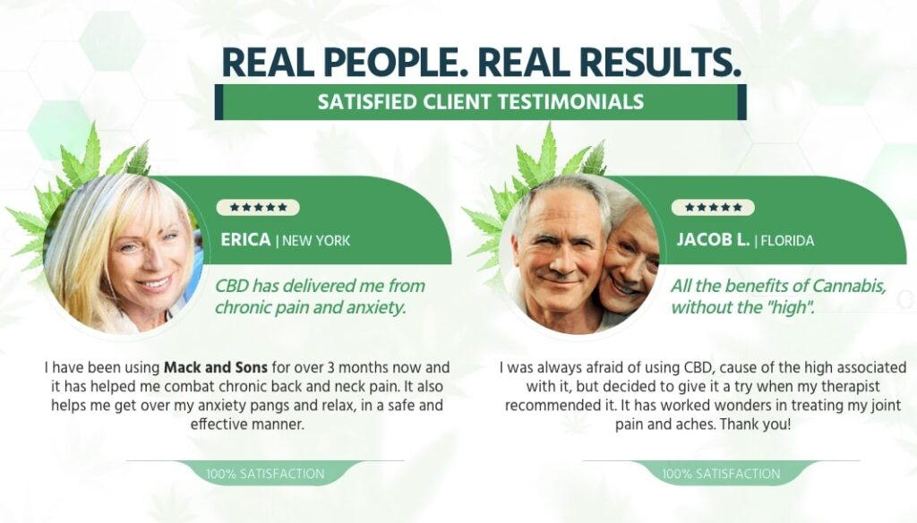 reviews about mack and sons cbd oil